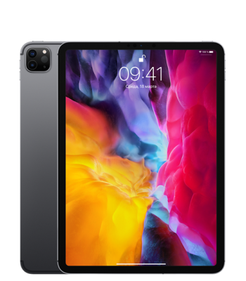 Планшет iPad Pro 11 256гб Space Gray Wi-Fi + Cellular (черный цвет)