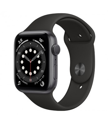 Смарт-часы Apple Watch S6 44мм Black Sport Band (чёрные)