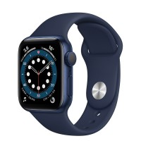 Watch S6 40мм Blue Aluminum Case with Blue Sport Band Официальные