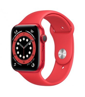 Смарт-часы Apple Watch S6 44мм Red Sport Band (красные)