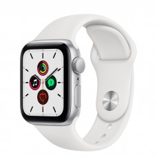 Watch SE 40мм Silver Aluminum Case with White Sport Band Официальные