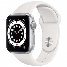 Watch S6 40мм Silver Aluminum Case with White Sport Band Официальные