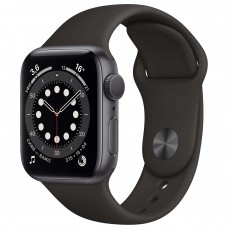 Watch S6 40мм Space Gray Aluminum Case with Black Sport Band Официальные